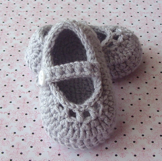 Crochet Baby Booties PATTERN, Baby Mary Jane Shoes, Crochet Baby ...