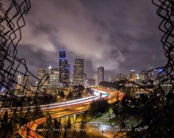 Washington Photography | Seattle Photo | Cityscape | Pacific Northwest Photo | Seattle Skyline | Night Photography | City Lights Print