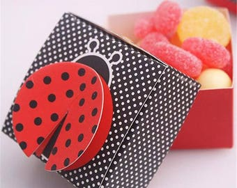 1st Ladybug Birthday Lady Bugs Party, Ladybug Baby Shower Lady Bug, Red Ladybug Party Favor Ladybug, Lady Bug Candy Boxes, Party Favor Boxes