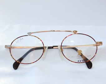 Quirky golden vintage eyewear. Never used. Neostyle Prestige.
