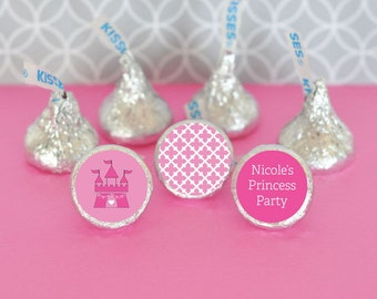 Personalized Princess Party Hershey's® Kisses Labels Trio (Set of 108)-Candy Kiss Labels-Cool Princess Party Favors
