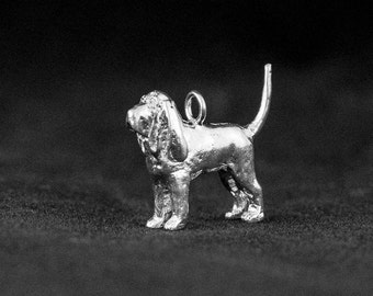 Sterling Silver Bloodhound Charm, Silver Bloodhound Pendant