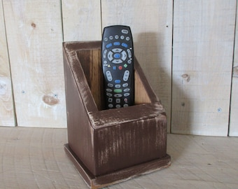Multi Use Caddy, Remote Control Caddy, Primitive Box, Handmade Caddy, TV Remote Holer, Utility Box, Primitive Decor, (#DKBR)