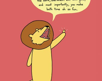 Lion's Ode To the Rubber Ducky Greeting Card