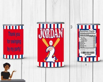 Baseball Party, Baseball Pringles Label, Baseball, Softball, Baseball Party Favors, Sports, Digital or Printed and Shipped