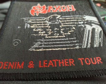 Denim & leather tour Saxon , vintage 80s