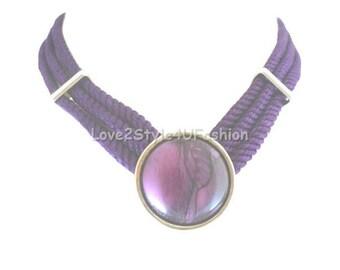 Purple Necklace, Choker Necklace, Statement Necklace, Purple Statement Necklace, Tattoo Choker, Lavender Necklace, Plum Purple Necklace