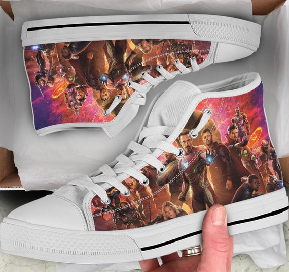 Avengers Shoes Colorful sneakers Shoes like Men's Avengers Women's high Top Looks Avengers Infinity Tops Converse War Sneakers High Shoes wq1Ept8
