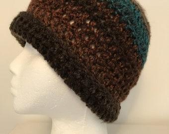 Brown Beanie Brown Beanie Hat Brown Winter Hat Cozy and Warm Brown Winter Hat Brown Crocheted Beanie Brown Crocheted Hat