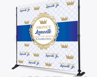 Custom 8X8 Photo Booth backdrop, custom Step and Repeat, Prince photo booth, Royal Prince Step and Repeat, Printable Backdrop, Prom filter