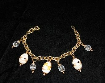 Czech Glass Charm Style Bead Bracelet