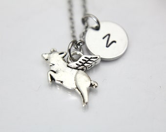 Flying Pig Necklace, Pig Wing Necklace, Pig with Wing Charm, Pet Gift, Fairytale Gift, Fantasy Gift, Personalized Gift, Best Friend Gift