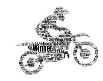 Motor cross, Off Road Biking Personalised Gift  Word Art Print Christmas Birthday Gift Gift for him