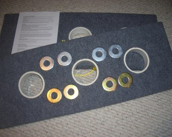 OHIO - WASHER Horseshoes Pitching/Toss Game - 3 Hole BOARDS  !!