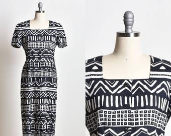 African print dress, African dress, square neckline, ankara dress, high slit dress, maxi dress, black and white dress, short sleeve dress