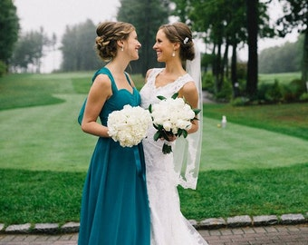 Alencon Lace Fingertip Wedding Veil, Ivory Fingertip Veil, Lace Bridal Veil, Lace Wedding Veil, Fingertip Bridal Veil, Lace Veil Fingertip