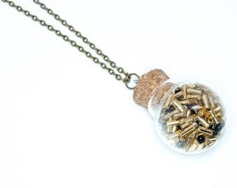 Art Deco Bottle Necklace