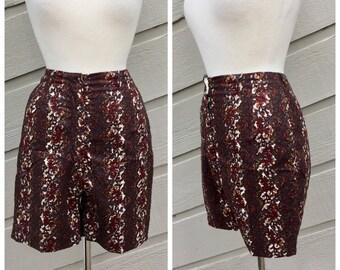 Vintage 60's Patterned Bermuda shorts
