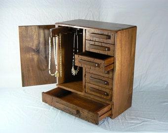 Jewelry Box - Handcrafted - Handmade - Wooden Jewelry Chest -  handmade – made by solar energy - Jewelry Storage – Jewelry Organizer
