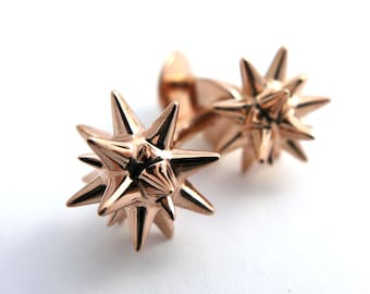 Moravian Star Cufflinks- Mathematical Jewelry - Geometric Christmas Star Cufflinks - Men's Jewelry - Mathematical Gift for Him