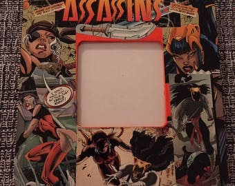 Assassins Comic Themed Decoupage Square Picture Frame