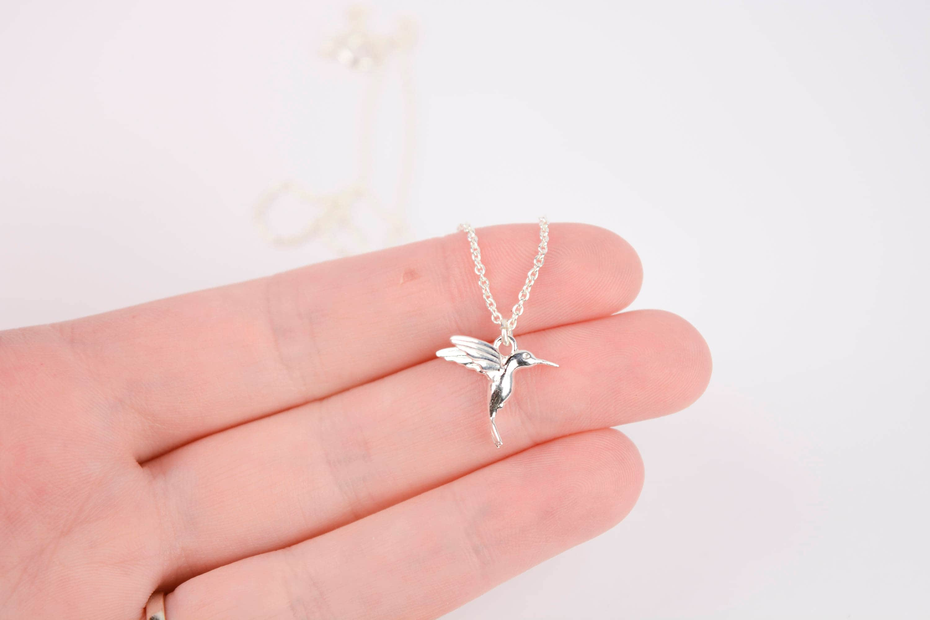 with personalised silver hummingbird lily jewellery lcnsdhbp charmed and necklace diamond