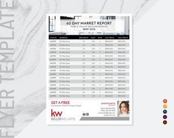"Real Estate Market Update Flyer Template, Two Agent Flyer Template, Realtor Flyer, Market Report Flyers, Market Update, 8.5"" x 11"", No.18"