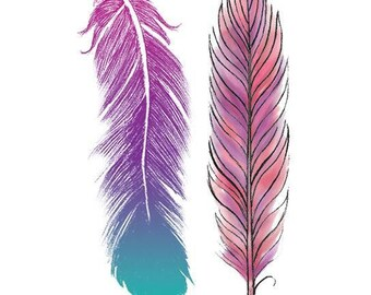 Feathers Temporary Tattoo