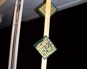 Double suet feeder, all natural wood
