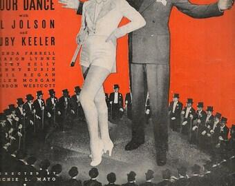 About A Quarter To Nine + Al Dubin + Harry Warren + 1935 + Vintage Sheet Music