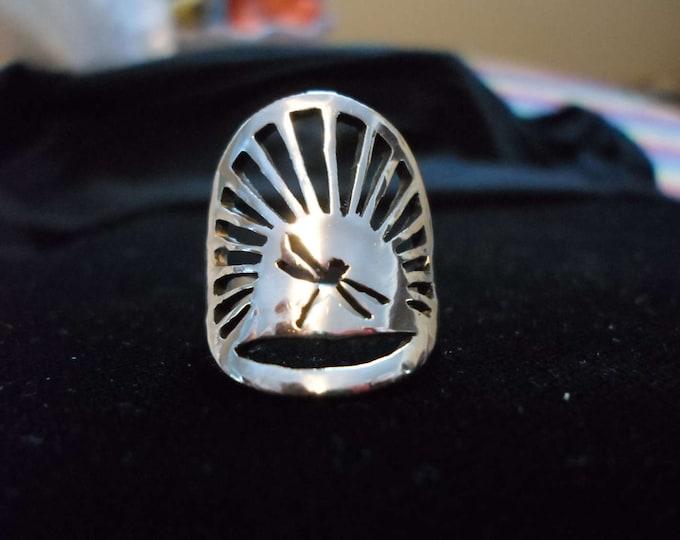 dragonfly sunburst ring quarter size