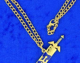 Legend of Zelda Sword Necklace or Keychain Game Inspired