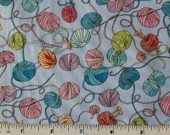 Knittens by Clothworks Y2087-84 Light Periwinkle 100% Cotton Patchwork Quilting