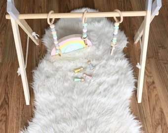 Baby gym baby mobile toy bar with three gym