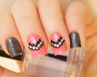 2mm black round nail art studs/ Black metal nail studs/ Round nail studs/ Nail art supplies/ Nail decorations/ Black nail studs