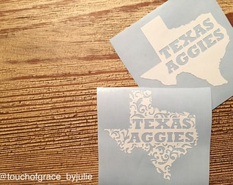 Texas Aggies State Decal / Texas Aggies State Pattern Decal