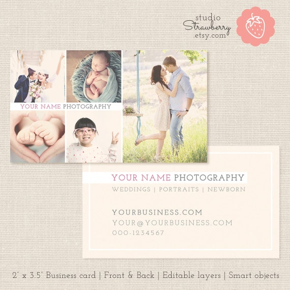 Photography business card template photoshop template photo cheaphphosting Image collections