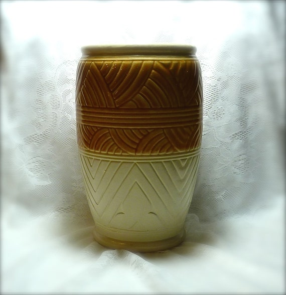 ROSEVILLE, R. RANSBOTTOM ~ Pottery Vase ~ Mid-Century ~ Spotless Condition ~ Great In Any Decor ~ Golden Brown/Natural Colors ~ Fall Colors