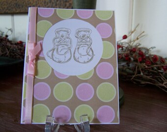 Baptism Baby Booties Greeting Card