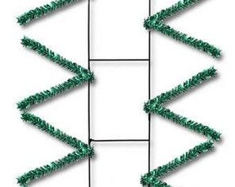 22'' metallic green Rail Form, Rail Form, Rail Forms, green centerpiece Frame, emerald green centerpiece base, swag Forms, Wreath Supplies