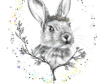 A4 Woodland series RABBIT