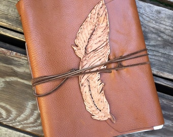 Feather Quill Sketchbook, Large Handmade Writing Journal