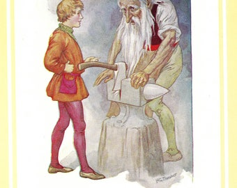 1920s Grimm Fairy Tales print for framing Harry Theaker
