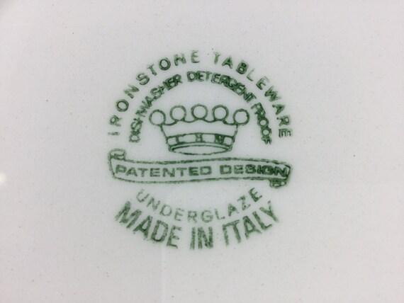 50. ◅ & Sale Vintage Ironstone Tableware Underglaze Salad Dinner Wall