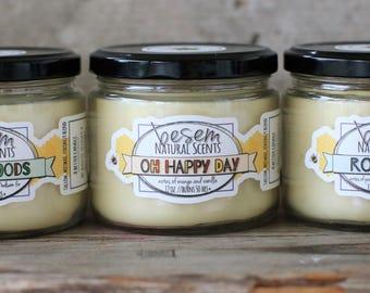 Bienenwachskerze / / Oh Happy Day, Aromatherapie, orange, Vanille, ätherisches Öl-Kerze, Anhänger, handgemachte Talg Bienenwachskerze