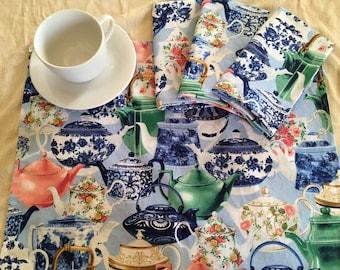 Teapot Napkins! (set of 4)