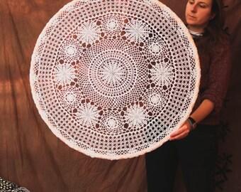 Large Mandala - The Whole Year - Huge Crochet Wall Decoration, Home Decor, Alternative Wedding Altar - 12 Flower Reprensenting 12 Months