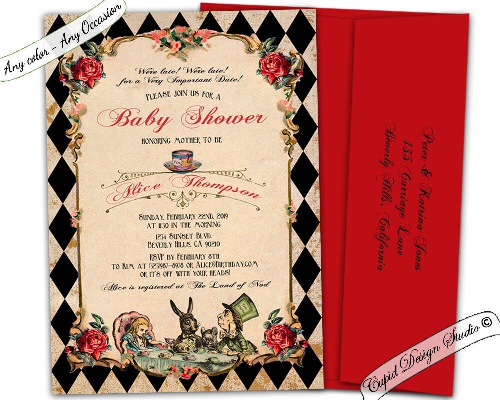 Exelent Mad Hatter Tea Party Invites Ideas - Invitations and ...