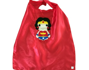 Kids Superhero Cape - Wonder Girl - Children's Clothing - Girls or Boys Gift