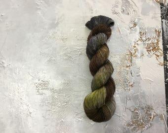 Hand Dyed Yarn - Fingering weight Yarn - Can We Talk - merino Singles Single